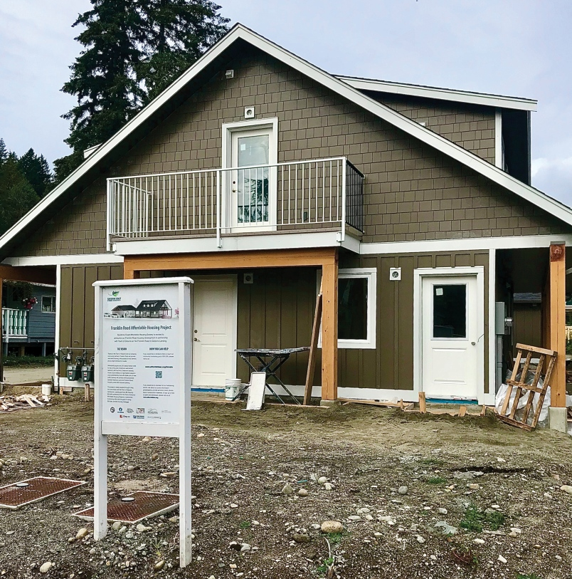 An affordable housing project on Franklin Road in Gibsons nears completion. - Wendy Francis